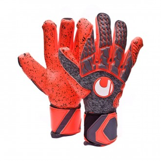 Guante  Uhlsport Aerored Supergrip HN Dark grey-Fluor red