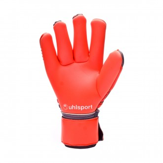 Guante  Uhlsport Aerored Absolutgrip Finger Surround Dark grey-Fluor red