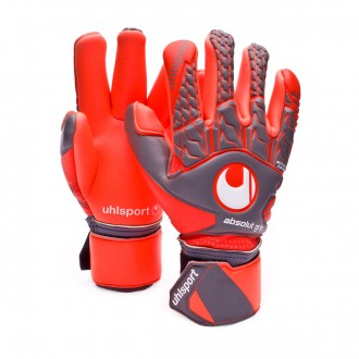 Luvas  Uhlsport Aerored Absolutgrip Finger Surround Cinza-Laranja