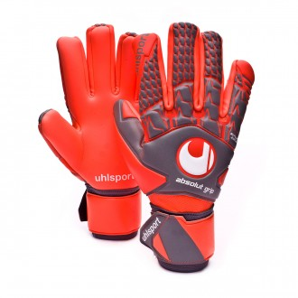 Guante  Uhlsport Aerored Absolutgrip HN Dark grey-Fluor red
