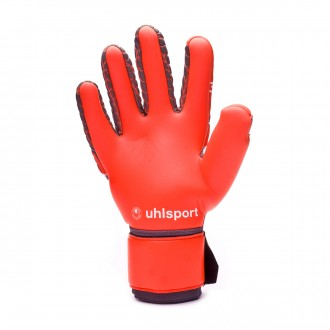 Guante  Uhlsport Aerored Absolutgrip Reflex Dark grey-Fluor red