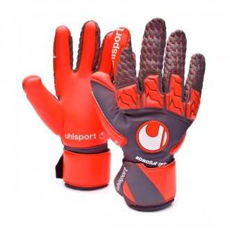 Glove  Uhlsport Aerored Absolutgrip Reflex Grey-Orange