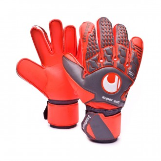 Guante  Uhlsport Aerored Supersoft Dark grey-Fluor red