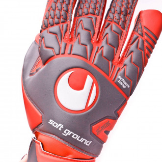 Guante  Uhlsport Aerored Soft HN Comp Dark grey-Fluor red