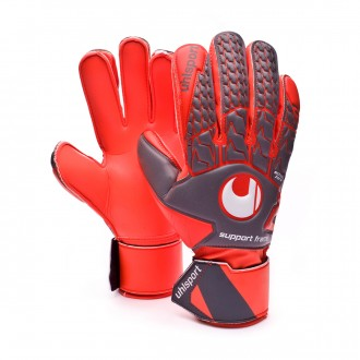 Guante  Uhlsport Aerored Soft SF Dark grey-Fluor red