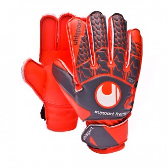 Guante  Uhlsport Aerored Soft SF Niño Dark grey-Fluor red