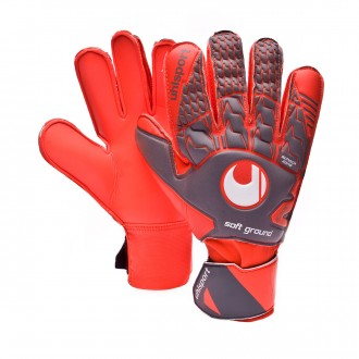 Guante  Uhlsport Aerored Soft Pro Dark grey-Fluor red