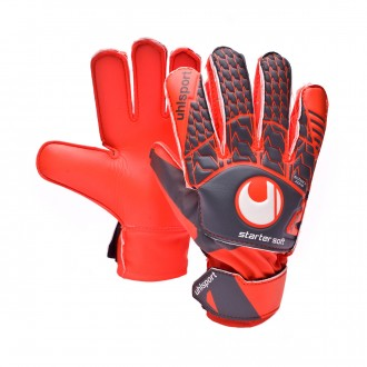 Guante  Uhlsport Aerored Starter Soft Niño Dark grey-Fluor red