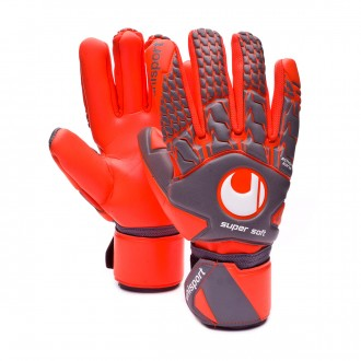 Guante  Uhlsport Aerored Supersoft HN Dark grey-Fluor red