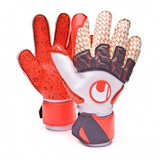 Guante  Uhlsport Aerored Supergrip Lloris Blanco-Naranja-Gris