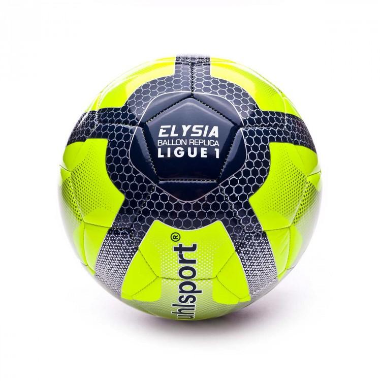 Ball Uhlsport Elysia Replica League 1 Amarillo Fluor Navy Blue Football Store Futbol Emotion