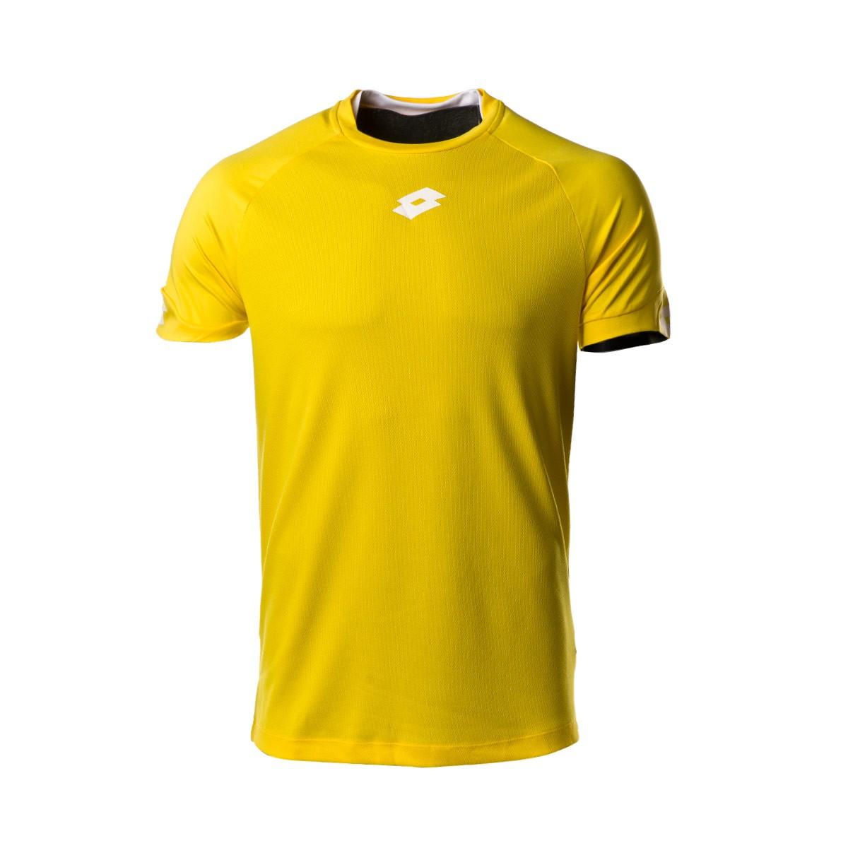 5e0cfaa70 Jersey Lotto Delta Plus m c Yellow-White - Tienda de fútbol Fútbol Emotion