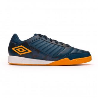 Sapatilha de Futsal Umbro Chaleira Liga IC Navy-Gold