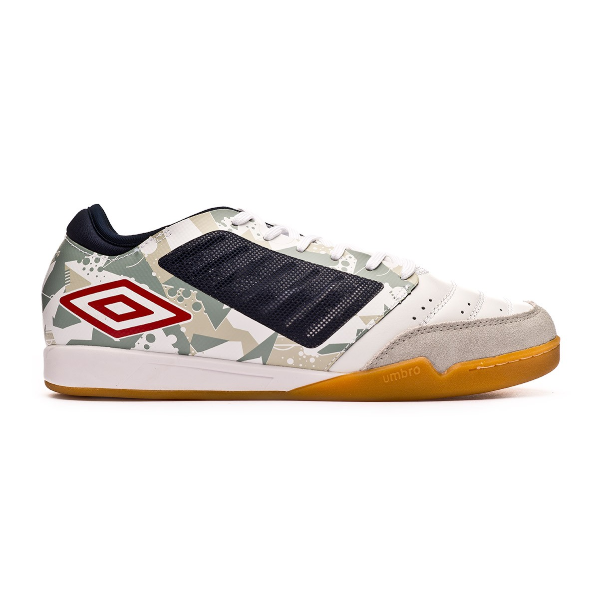 dbde53e75ef Futsal Boot Umbro Chaleira Pro IC White-Grey-Black - Football store Fútbol  Emotion