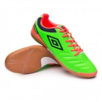 Zapatilla  Umbro Futsal Attak IC Green-Orange-Navy