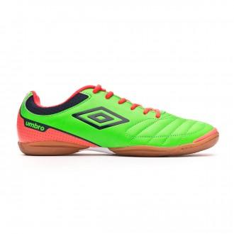 Zapatilla  Umbro Futsal Attak IC Green-Orange-Navy