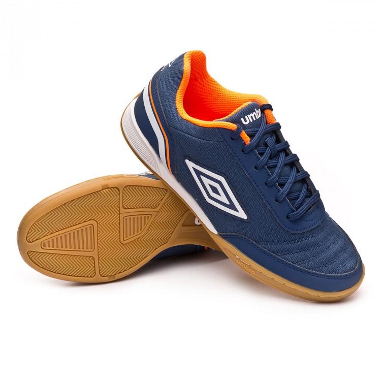 Sapatilha de Futsal Umbro Futsal Street V IC Navy - Loja de futebol ... 1217ec5bdc5d1