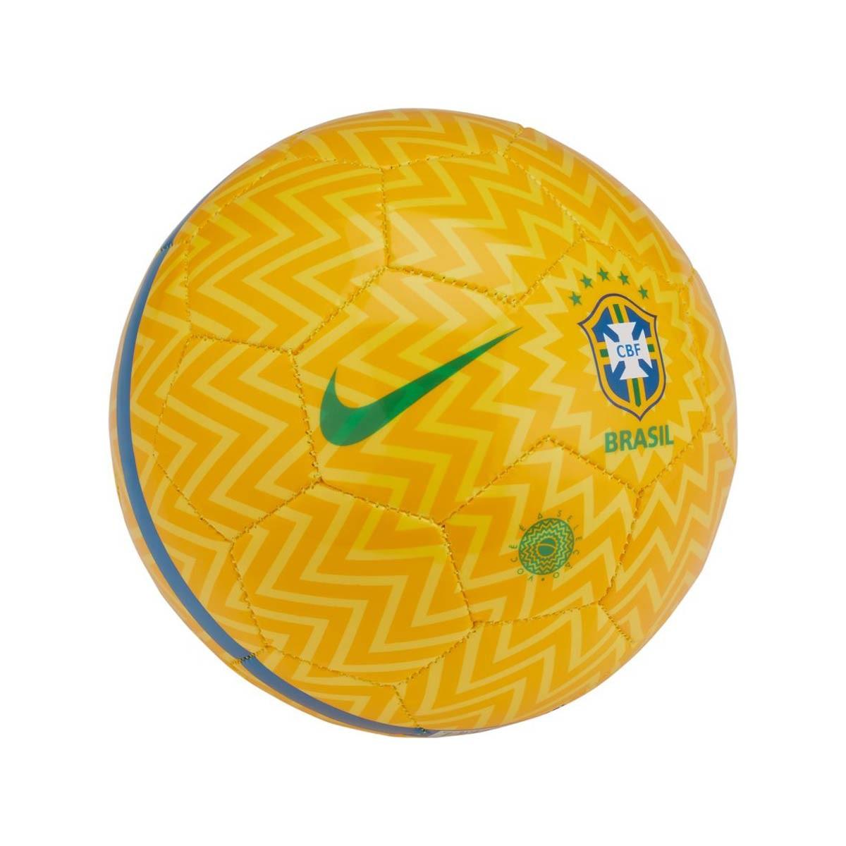 c8399abb97e47 Bola de Futebol Nike Mini Brasil Skills 2018-2019 Samba gold-Lucky green  soar - Loja de futebol Fútbol Emotion