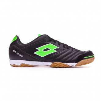 59f6c77801b17 Sapatilha de Futsal Lotto Stadio 300 II ID Black-Mint