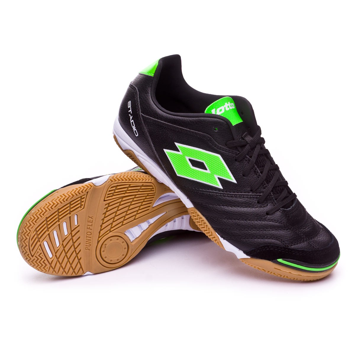 b21751e2e Futsal Boot Lotto Stadio 300 II ID Black-Mint - Football store Fútbol  Emotion