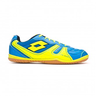 Futsal Boot  Lotto Tacto 500 III ID Blue atletic-Yellow safety