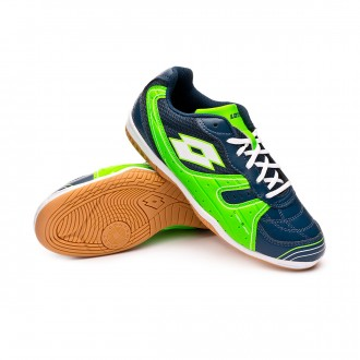 Chaussure de futsal  Lotto Tacto 500 III ID Niño Blue city-White