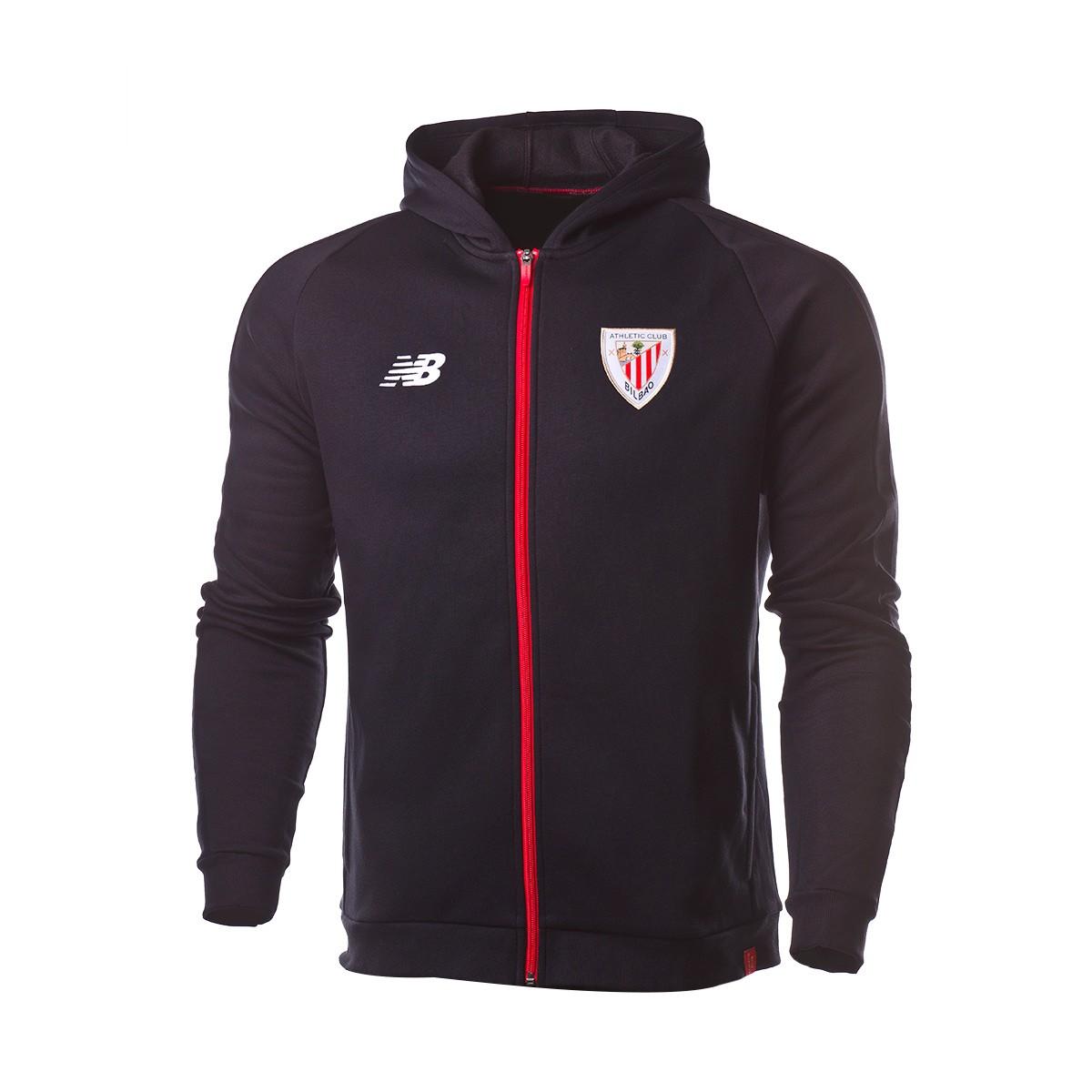09a45acb24764 Chamarra New Balance con Capucha AC Bilbao 2018-2019 Black - Tienda de  fútbol Fútbol Emotion