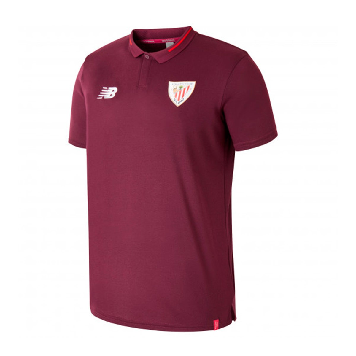5c2dd76765a0b Polo shirt New Balance AC Bilbao Essentials 2018-2019 Garnet ...
