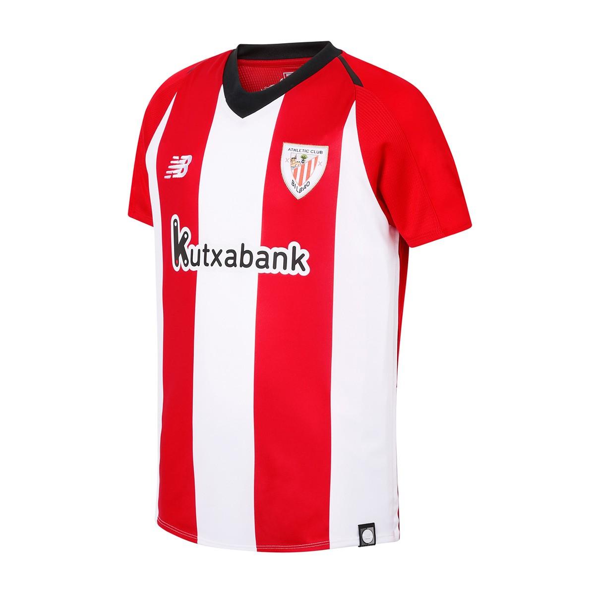 d00dfa3bb88a6 Camiseta New Balance AC Bilbao Primera Equipación 2018-2019 Niño White-Red  - Tienda de fútbol Fútbol Emotion