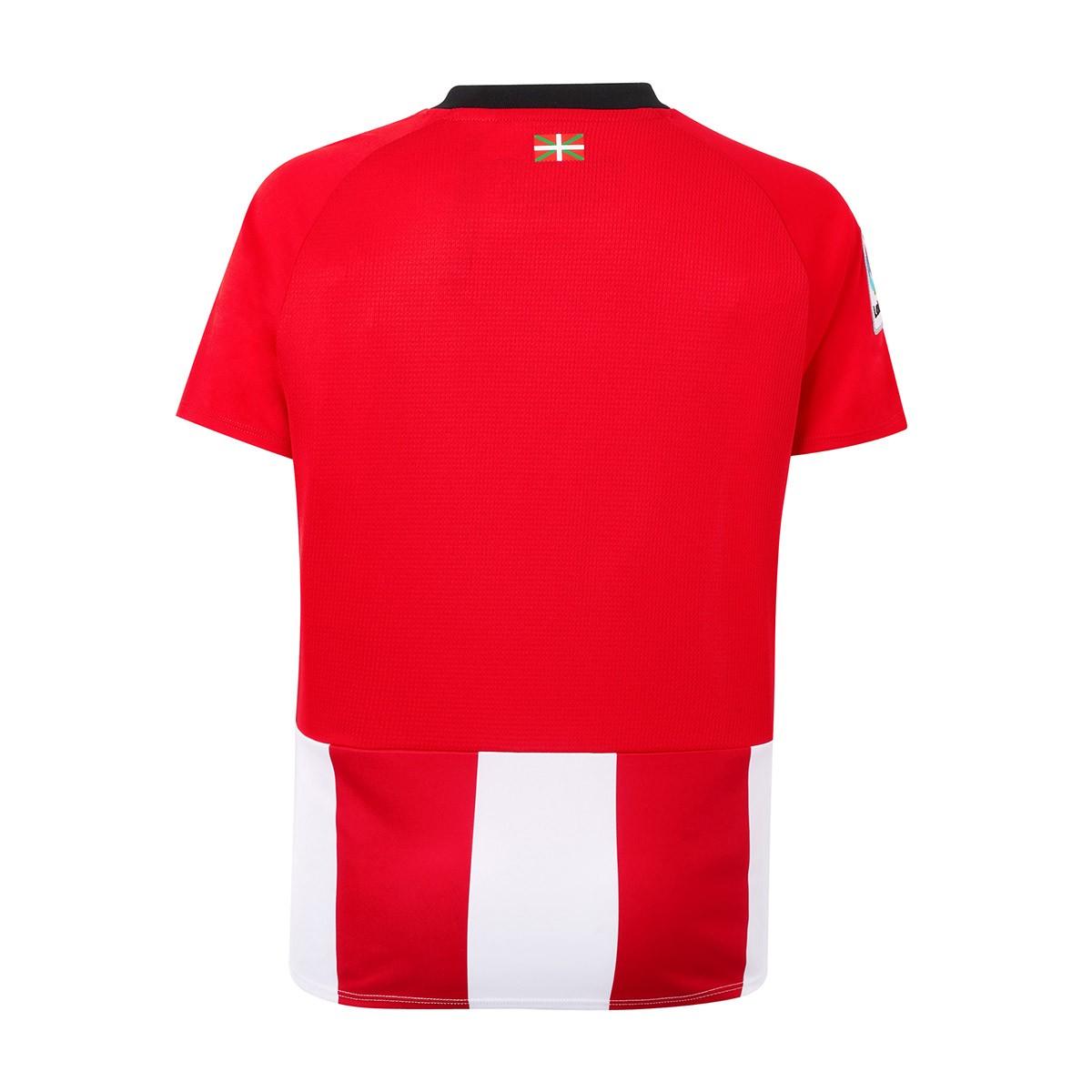 cda82a73a746c Camiseta New Balance AC Bilbao Primera Equipación 2018-2019 Niño White-Red  - Tienda de fútbol Fútbol Emotion