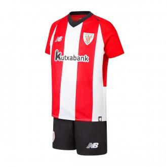 Conjunto  New Balance AC Bilbao Primera Equipación 2018-2019 Niño White-Red