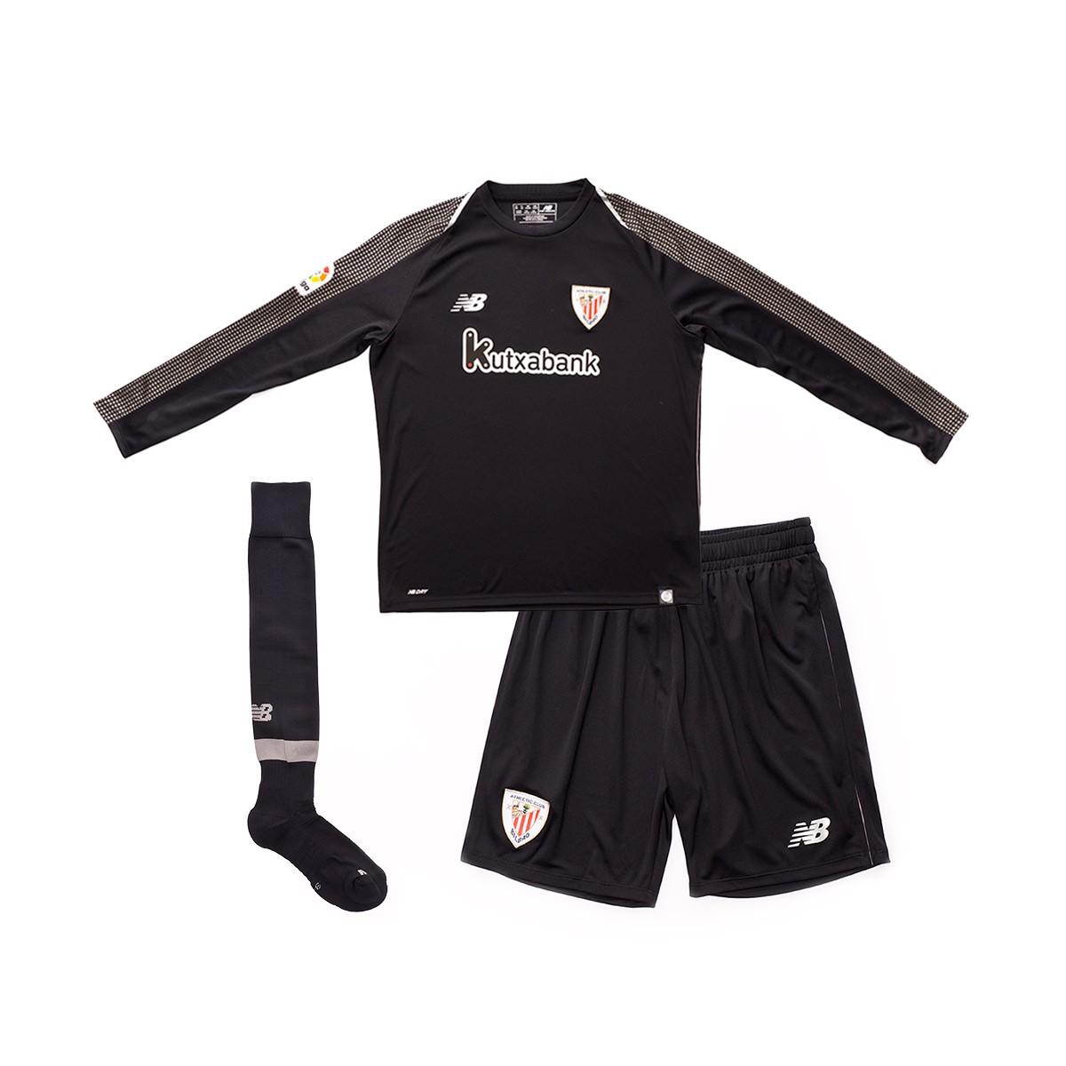 c9e008b504170 Conjunto New Balance AC Bilbao Primera Equipación Portero 2018-2019 Niño  Black - Tienda de fútbol Fútbol Emotion