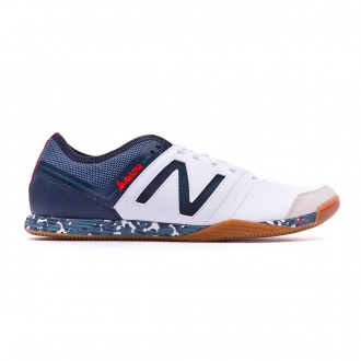Zapatilla  New Balance Audazo Pro 3.0 Futsal White-Grey