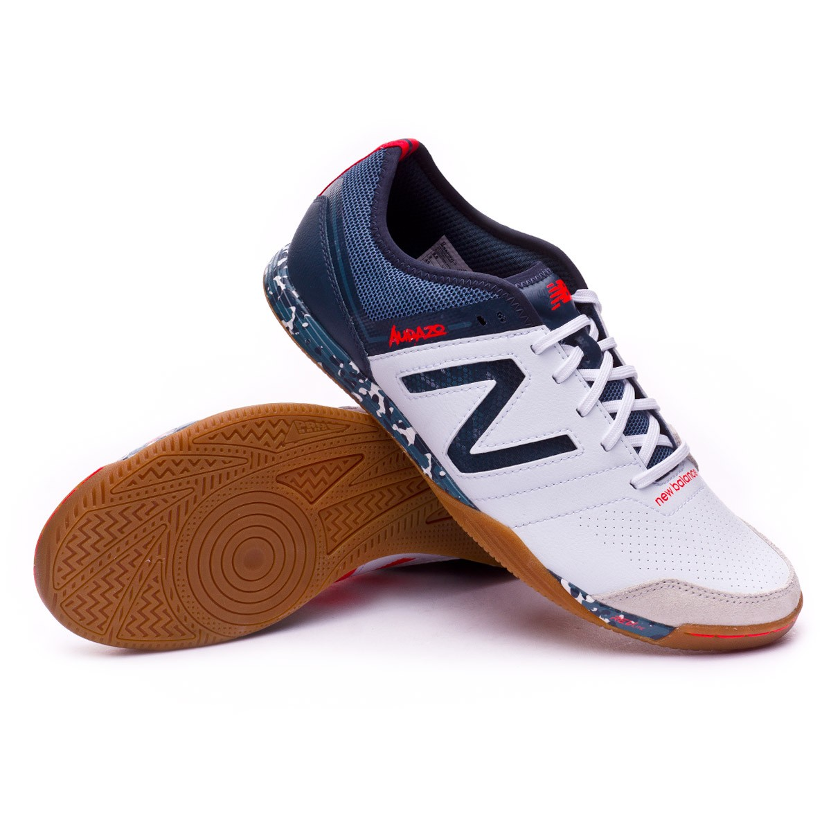 348b1443a Futsal Boot New Balance Audazo Pro 3.0 Futsal White-Grey - Football ...