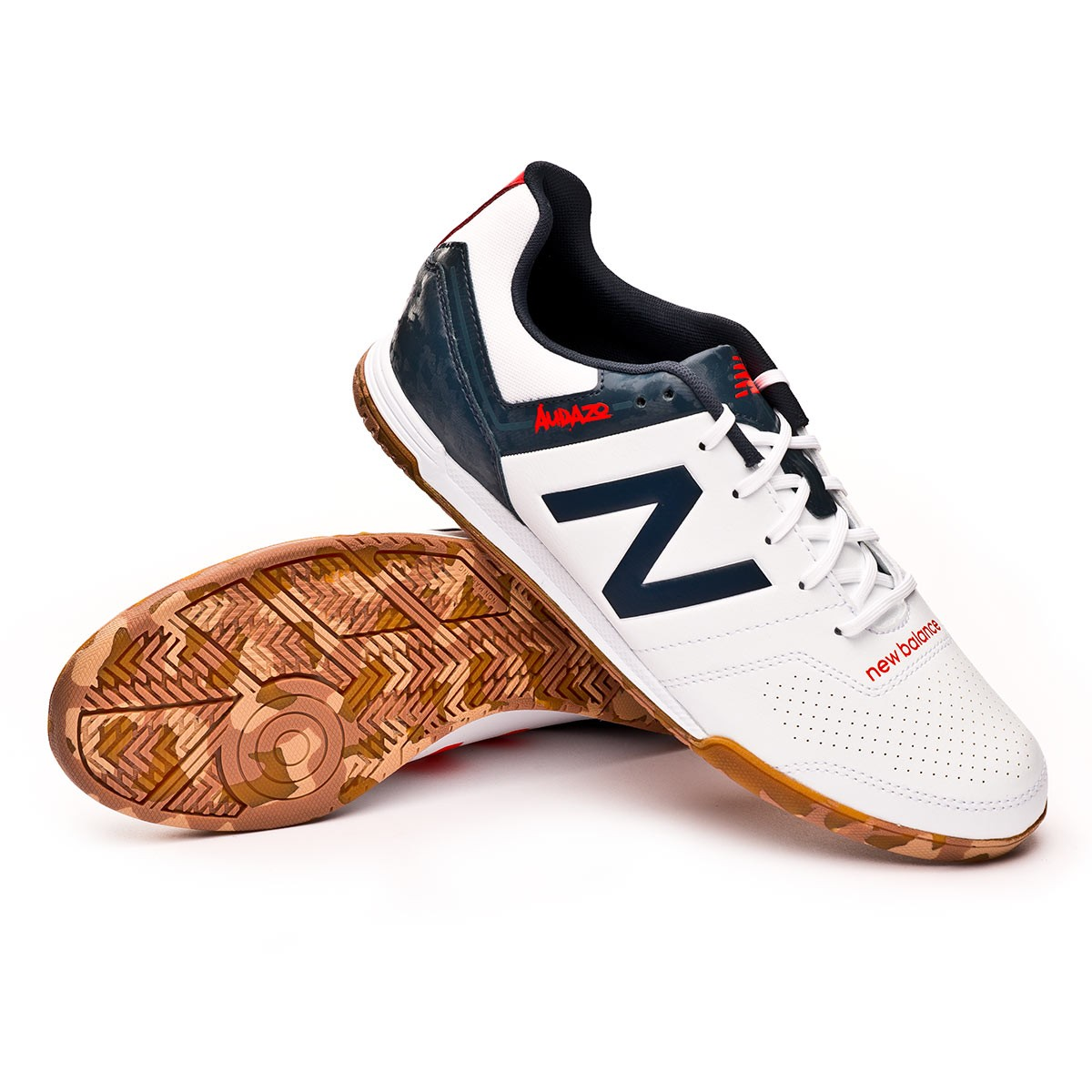 44ef8268c Futsal Boot New Balance Audazo Strike 3.0 Futsal White grey - Football  store Fútbol Emotion