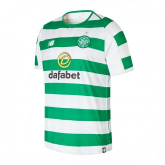 Maillot  New Balance Celtic Glasgow FC Domicile 2018-2019 White-Green
