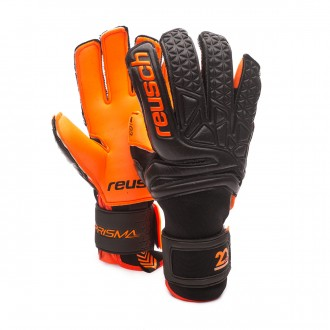Glove  Reusch Prisma Pro G3 Duo Blackhole Black-Shocking orange
