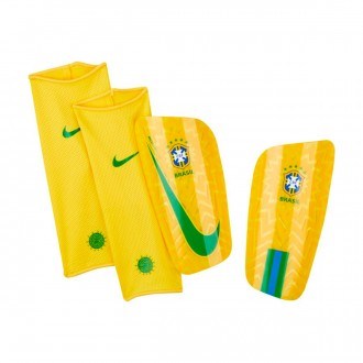 Shinpads  Nike Mercurial Lite Brazil 2018-2019 Gold-Lucky green