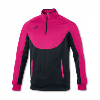 Sweat Joma Essential 1/2 Fermeture Fuchsia-Noir