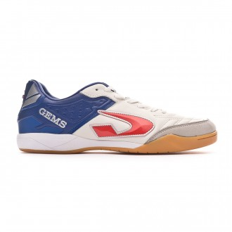 Futsal Boot  Gems Viper FX IN White-Blue