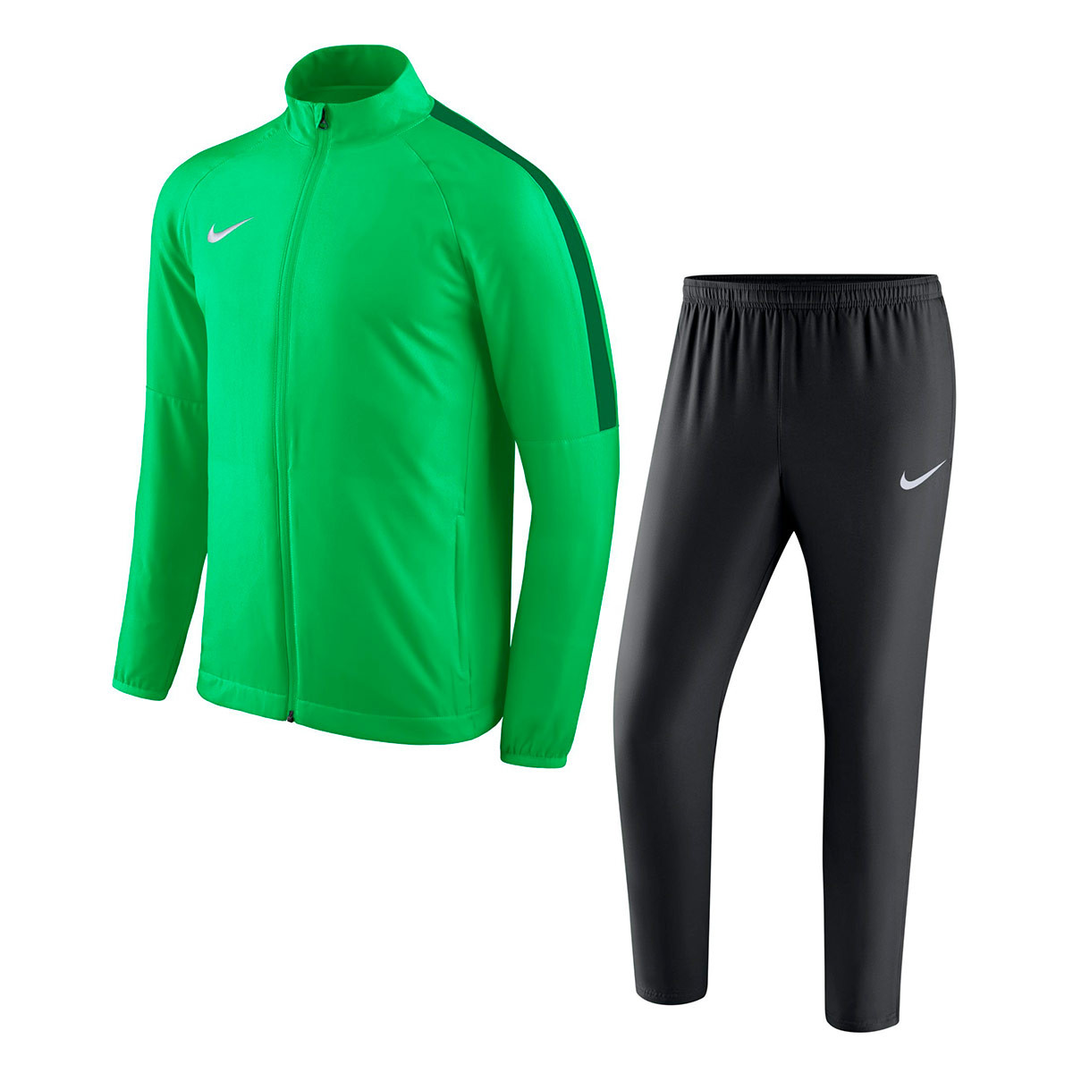 7b8af69d27b9e Tracksuit Nike Academy 18 Woven Light green spark-Black-Pine green ...