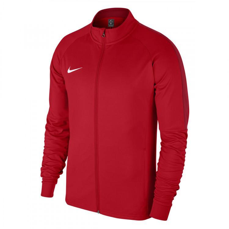 Viaje recepción Ilustrar  Jacket Nike Academy 18 Knit University red-Gym red-White - Football store  Fútbol Emotion