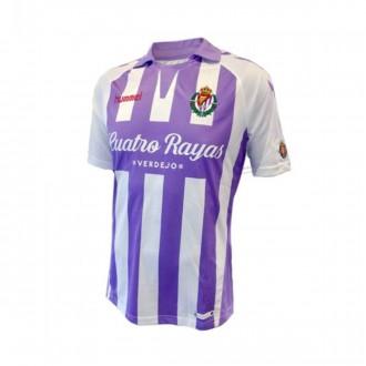 Camiseta  Hummel Real Valladolid CF Primera Equipación 2018-2019 Violeta-Blanco