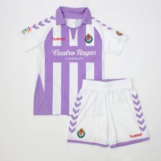 Conjunto  Hummel Real Valladolid CF 2018-2019 Niño Violeta-Blanco
