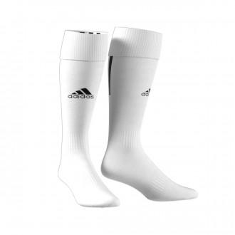 Football Socks  adidas Santos 18 White-Black