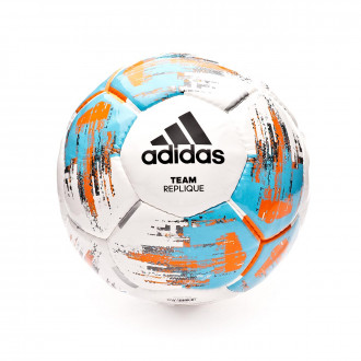 Bola de Futebol  adidas Team replique 2018-2019 White-Bright cyan-Bright orange