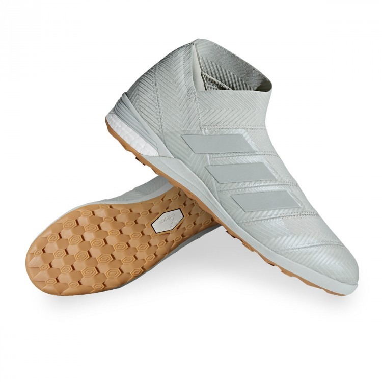 05d746cdb1 Futsal Boot adidas Nemeziz Tango 18+ IN Ash silver-White tint ...