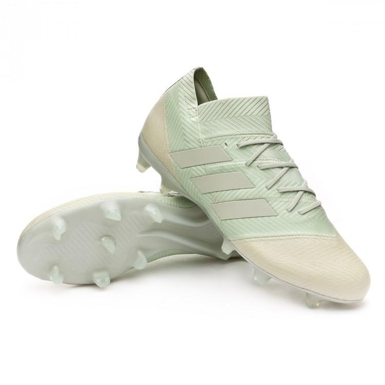 sports shoes a4074 f6656 bota-adidas-nemeziz-18.1-fg-ash-silver-white-