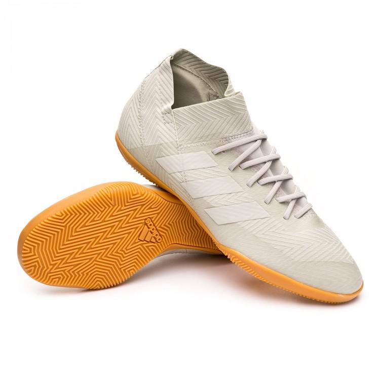 55a6b4303 Chaussure de futsal adidas Nemeziz Tango 18.3 IN Ash silver-White ...
