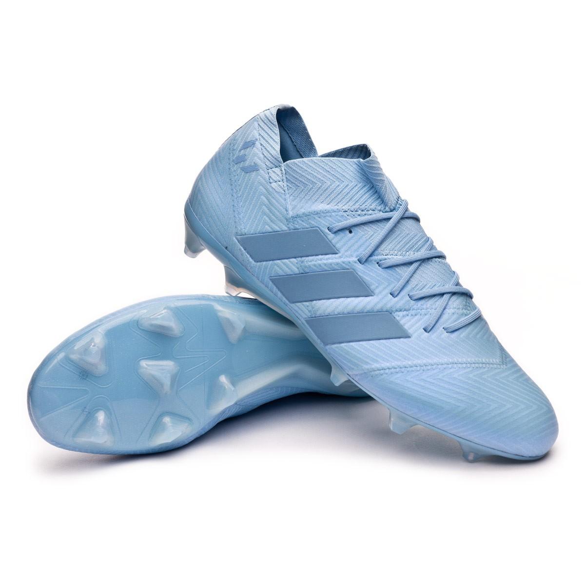 hombro Prisionero pueblo  Bota de fútbol adidas Nemeziz Messi 18.1 FG Ash blue-Raw grey - Tienda de fútbol  Fútbol Emotion
